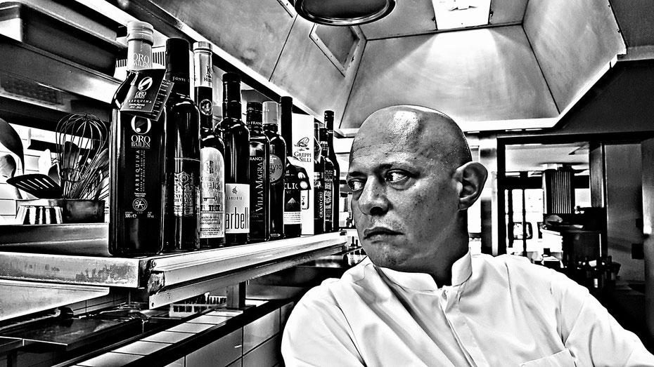 Keine Kompromisse: Bei Tresch schafft's nur in die Küche, was wirklich exzellent ist. So setzt er auf Olivenöle der Masterselektion von Silvan Brun