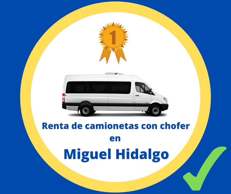 Renta de camionetas con chofer Miguel Hidalgo