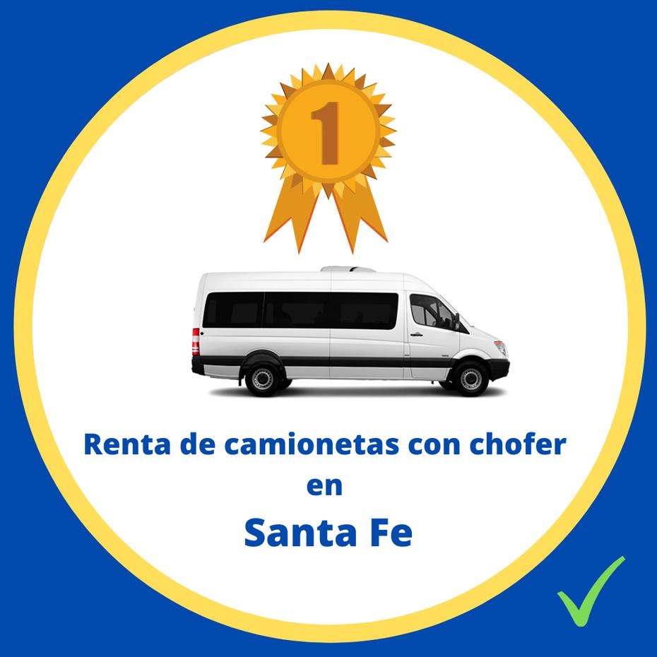 Renta de camionetas con chofer Santa Fe