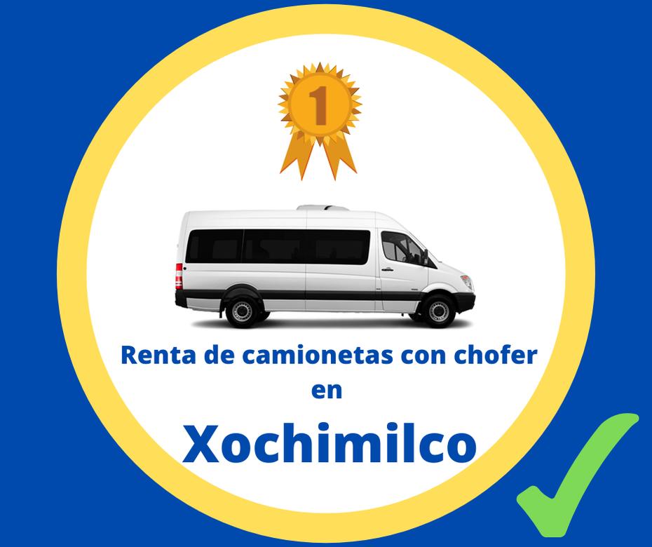 Renta de camionetas con chofer Xochimilco
