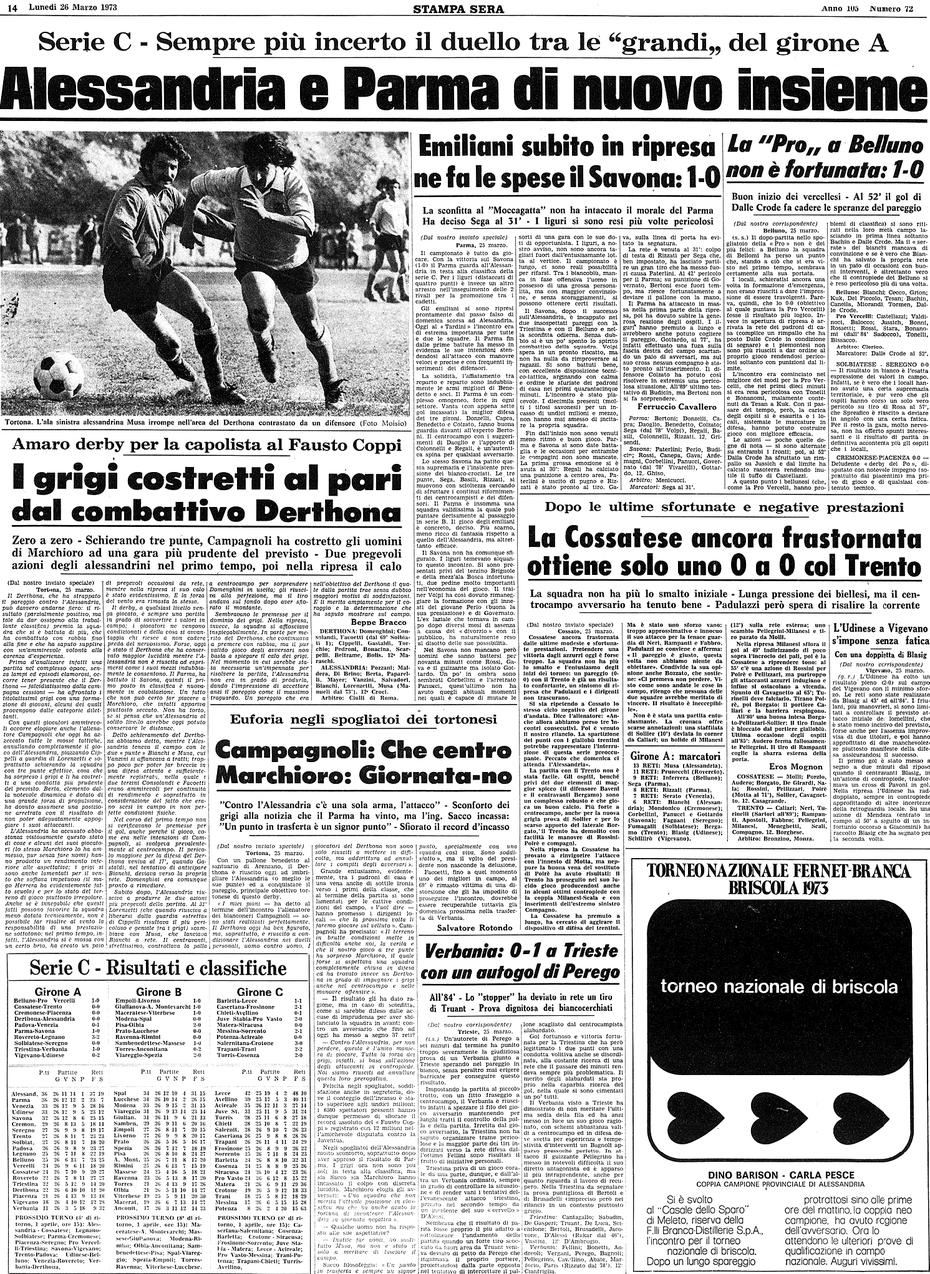 1972-73 DERTHONA-ALESSANDRIA 0-0