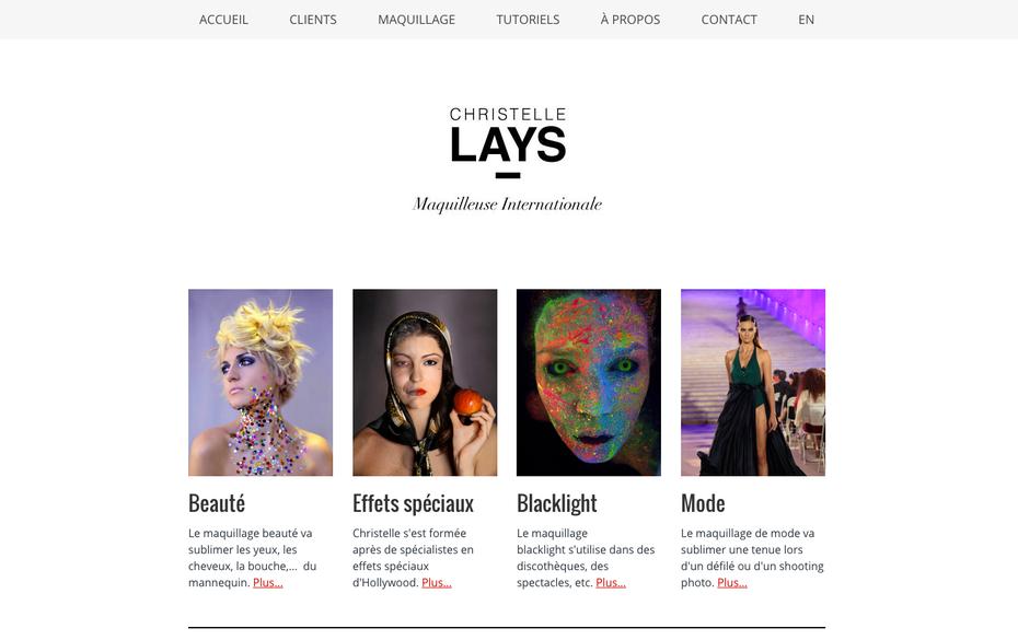 Nouveau site pour Christelle Lays, créé avec Jimdo bien sûr !
