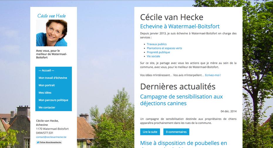 Le nouveau blog de Cécicle, géré avec Jimdo