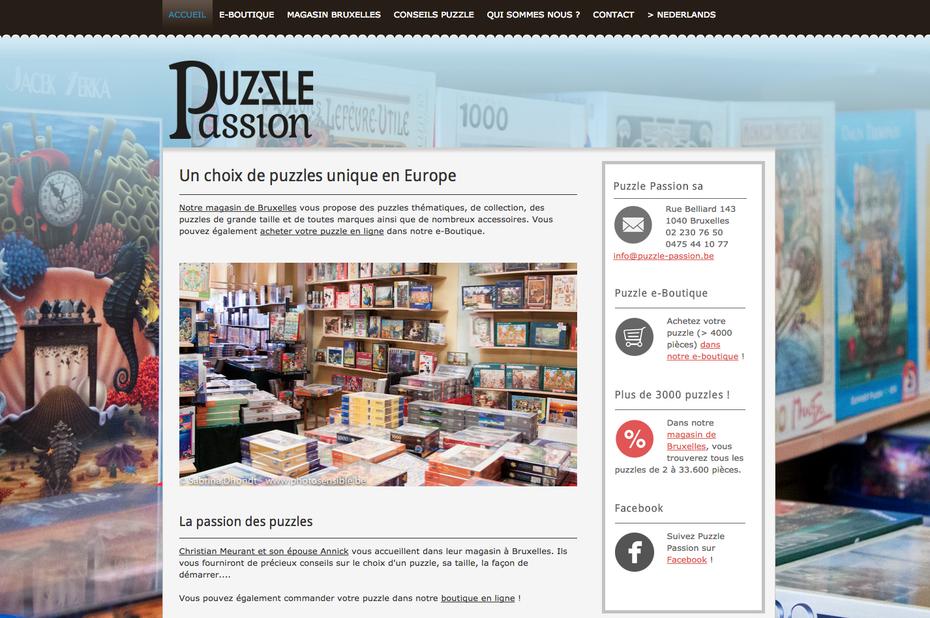 Le site de Puzzle Passion