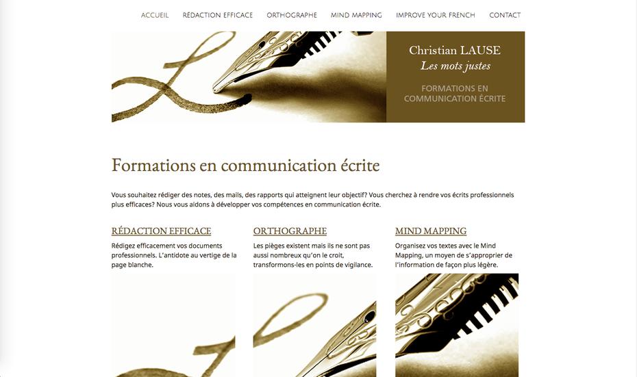 """Le nouveau site, rebaptisé pour l'occasion """"La plume qui court"""""""