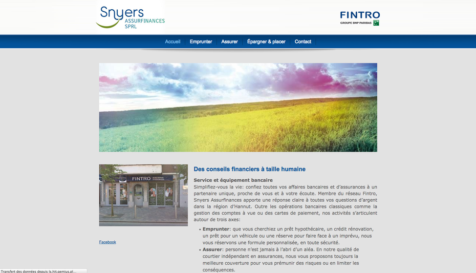 L'ancien site de l'agence Fintro de Hannut