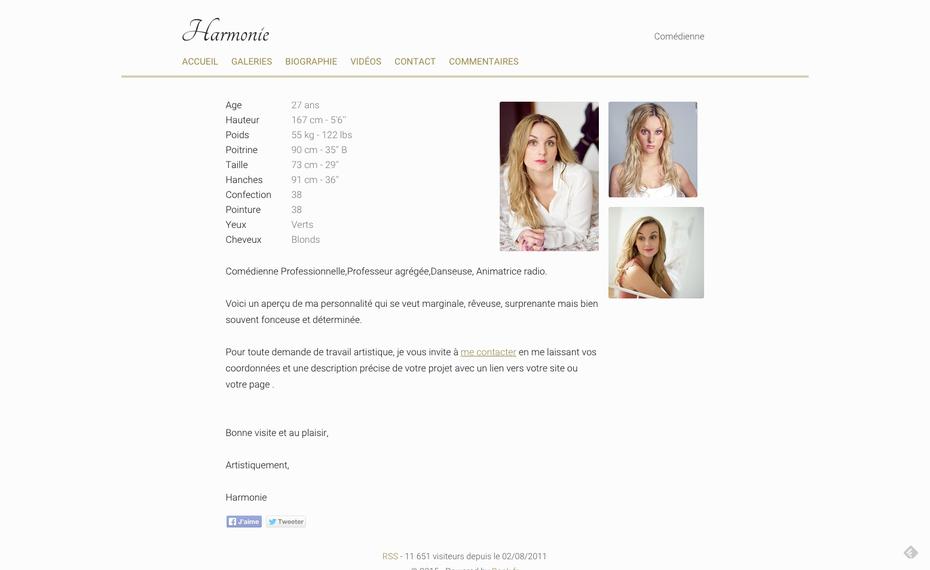 L'ancien site d'Harmonie sur www.book.fr