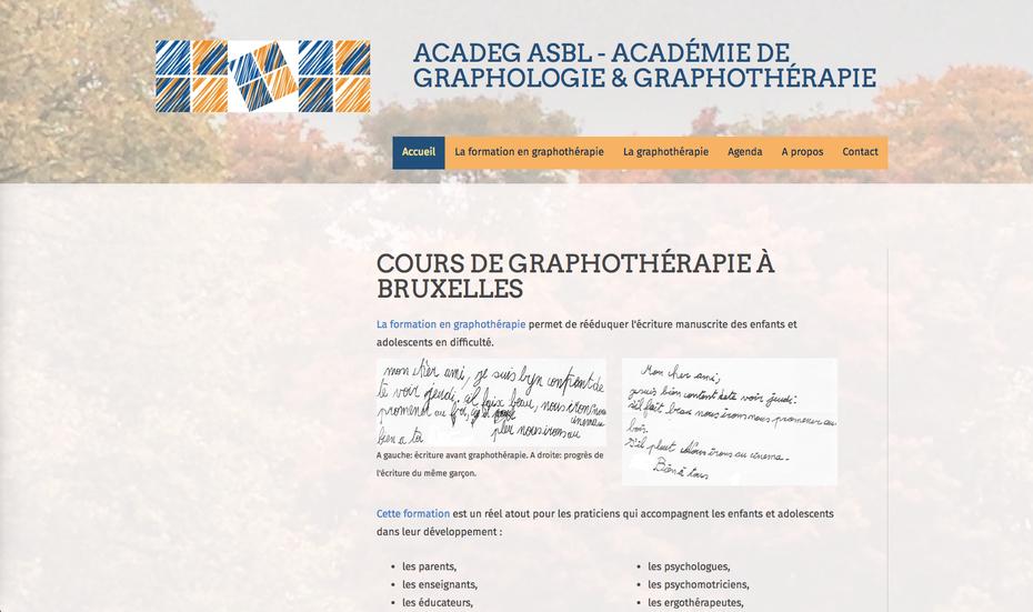 Le nouveau site de l'ACADEG créé avec Jimdo
