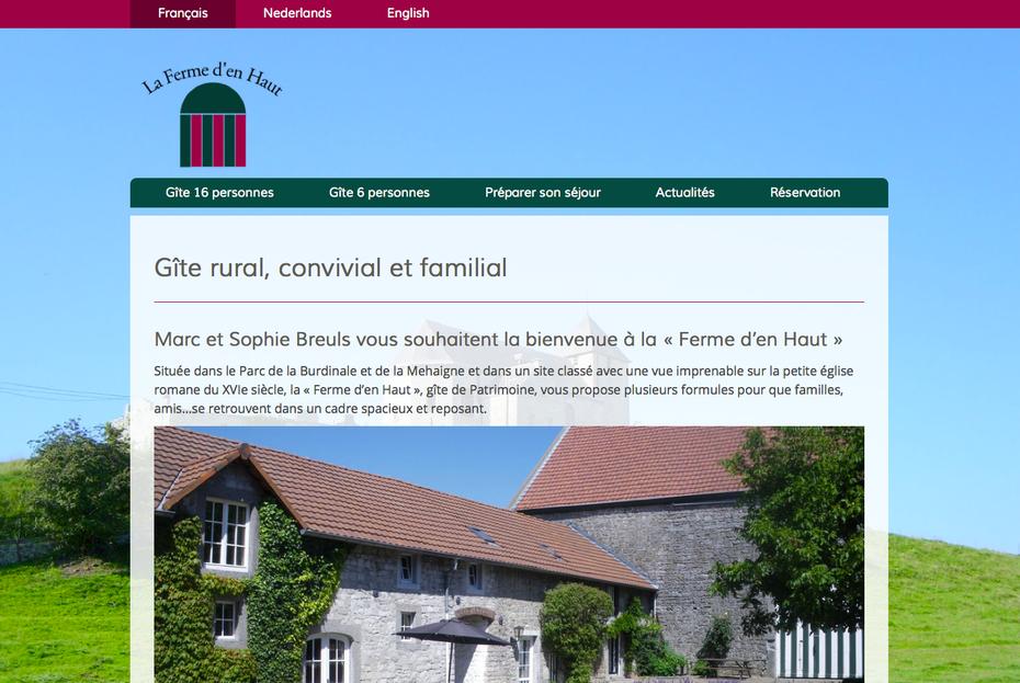 Le nouveau site créé avec Jimdo (design Lima)