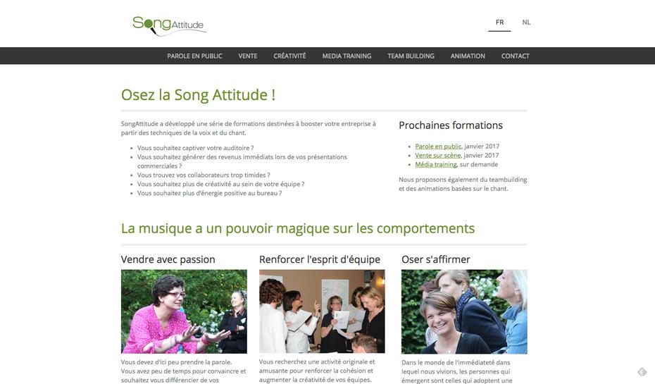 Le nouveau site de Song Attitude créé par Sabine avec Jimdo