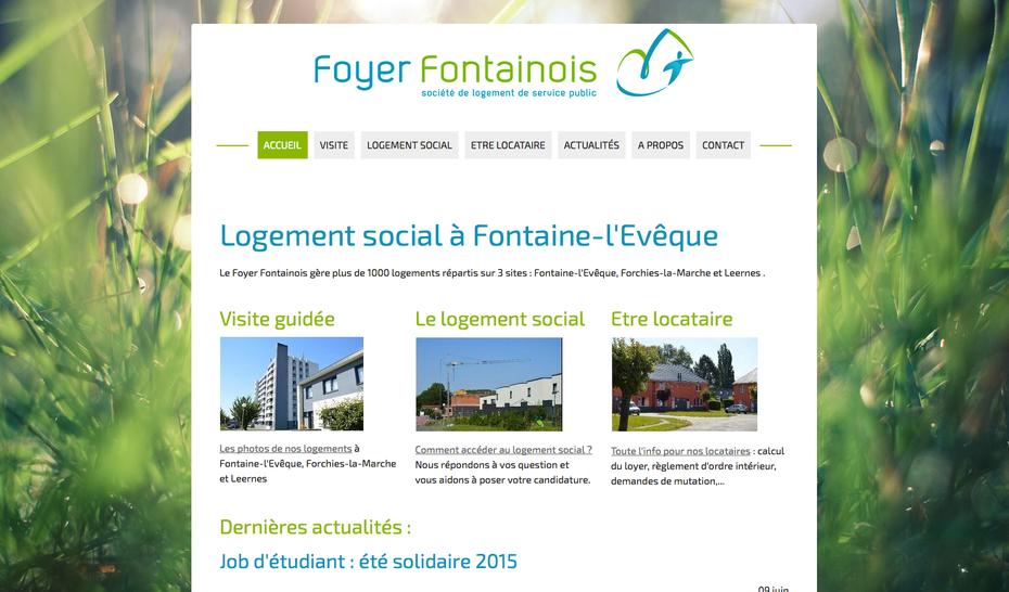 Le site du Foyer Fontainois après sa refonte