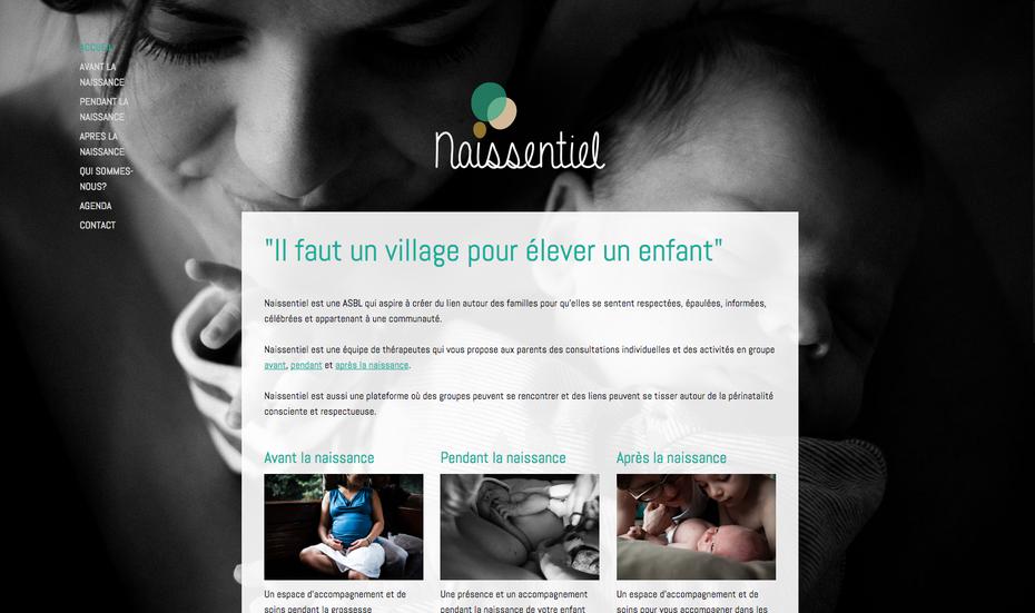 Le nouveau site de Naissentiel créé avec Jimdo par Vinciane