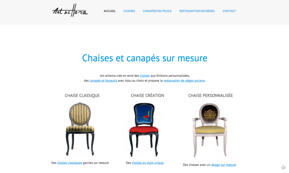 Le site dans sa version finale