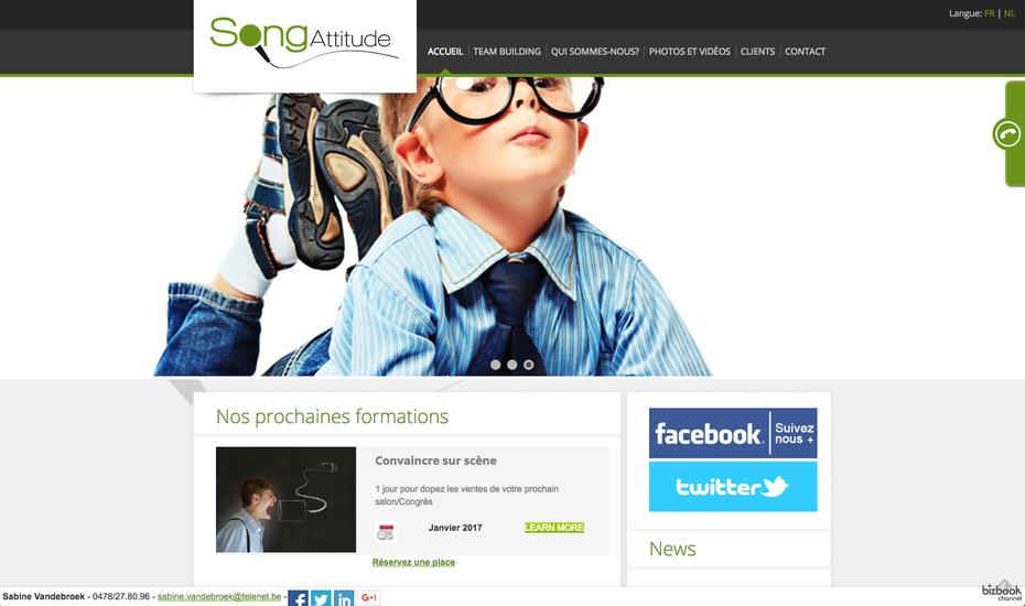 L'ancien site de Song Attitude créé par Proximedia