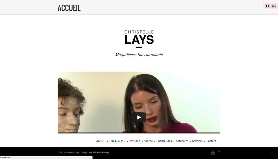 L'ancien site de Christelle Lays, maquilleuse internationale