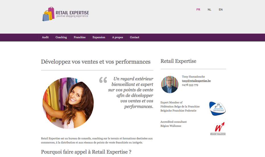 Retail Expertise en version multilingue avec Jimdo