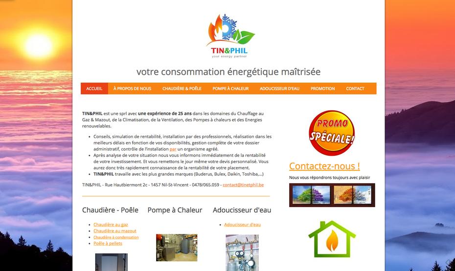 Le nouveau site de Tin&Phil (http://www.tinetphil.be)