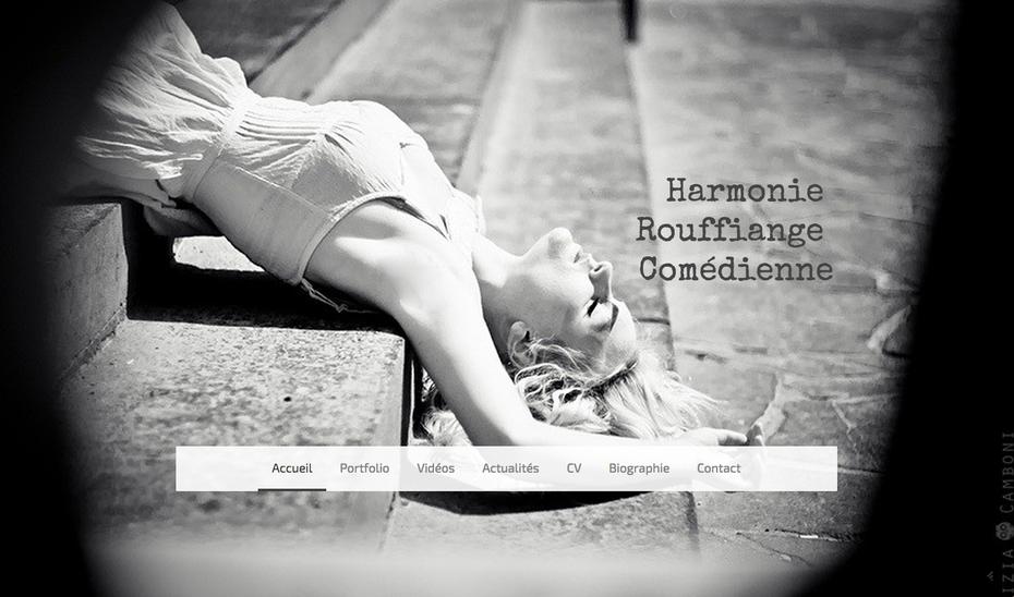 Le site d'Harmonie Rouffiange utilise le design Rio de Jimdo