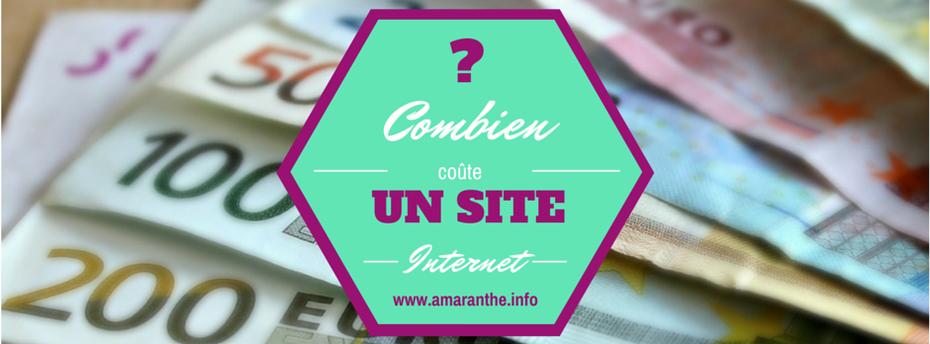 Combien coûte un site Internet créé avec Amaranthe ?