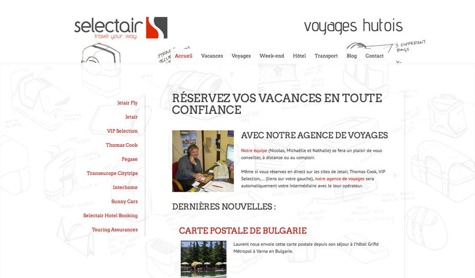 Le nouveau site des Voyages Hutois