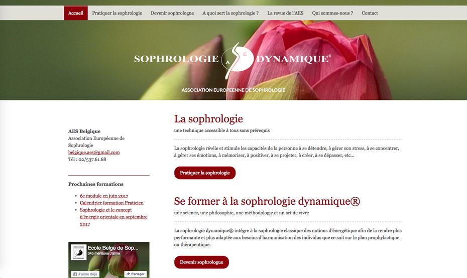Le nouveau site de sophro.be créé avec Jimdo