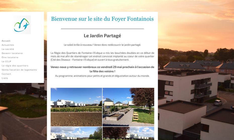 Le site du Foyer Fontainois avant sa refonte