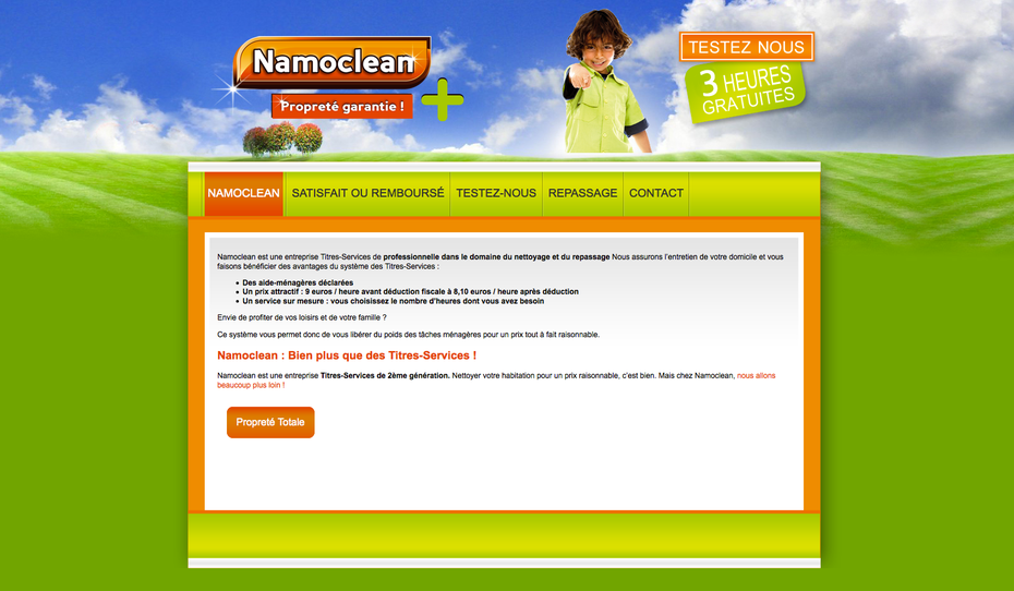 L'ancien site de Namoclean