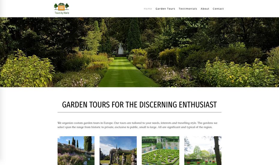 Le nouveau site créé avec Jimdo (design Rome)