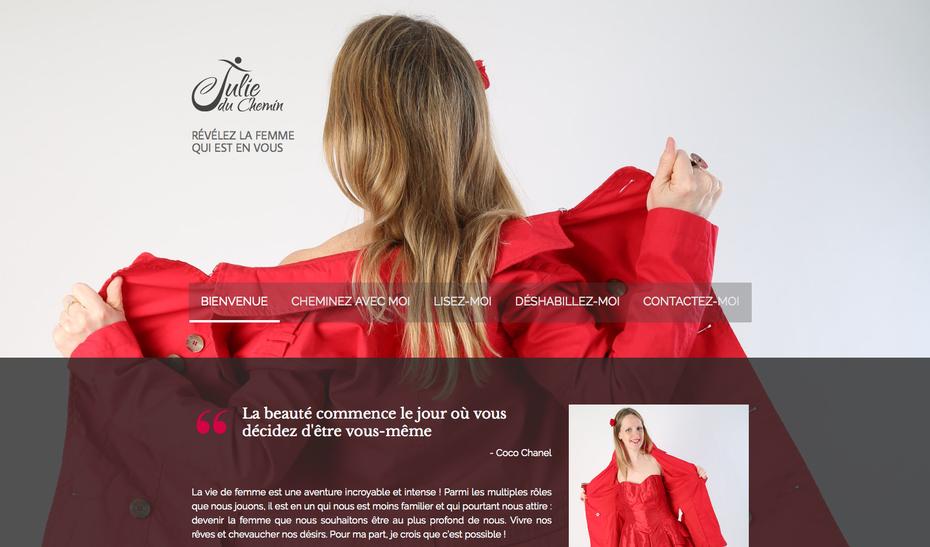 Le nouveau site de Julie du Chemin