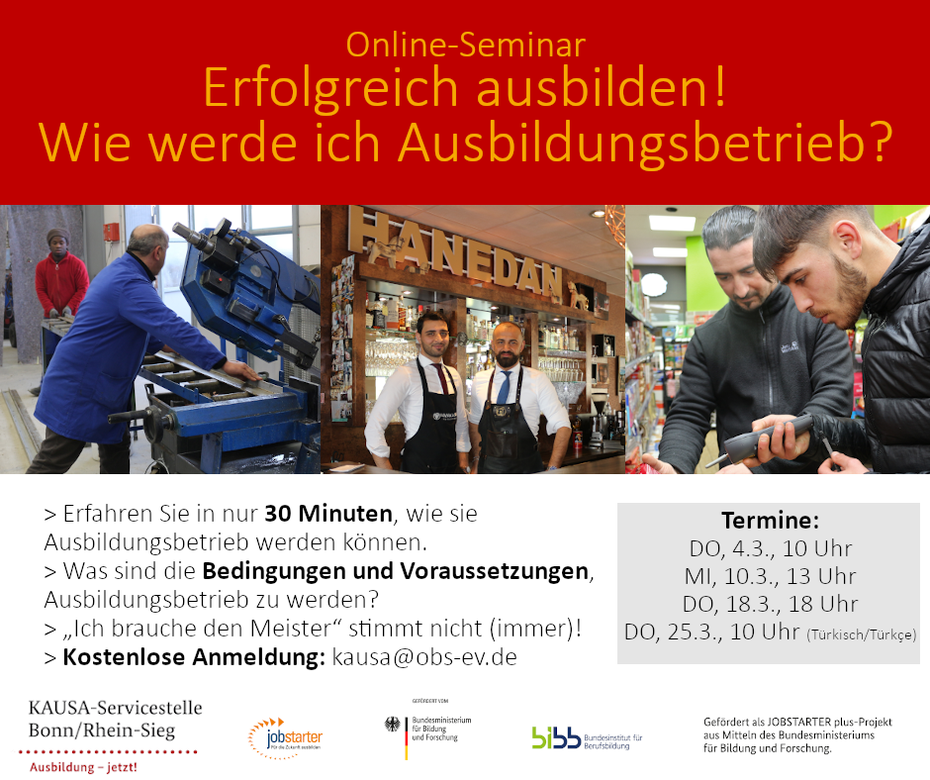 Flyer: Online-Seminar