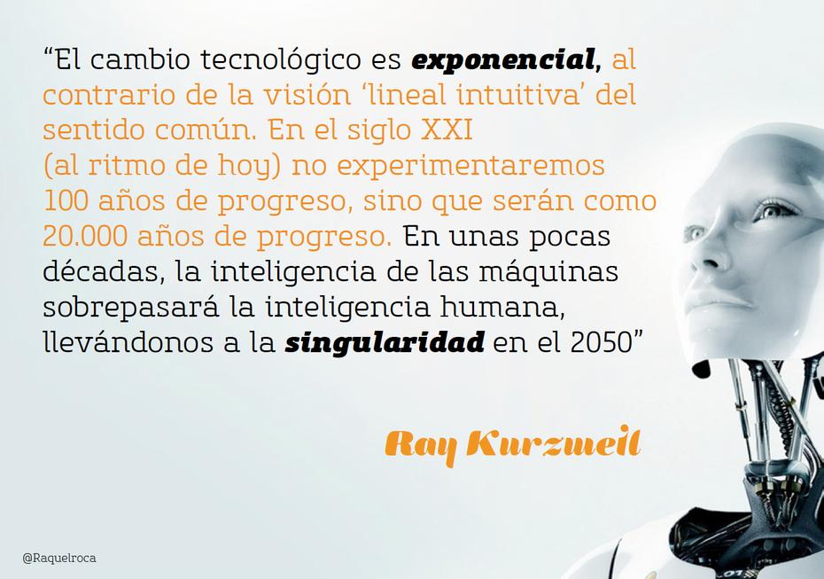 El cambio tecnológico es exponencial