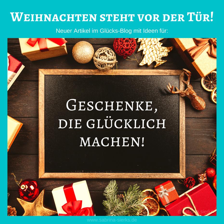 Weihnachten steht vor der Tür! Ideen für Geschenke, die glücklich machen.
