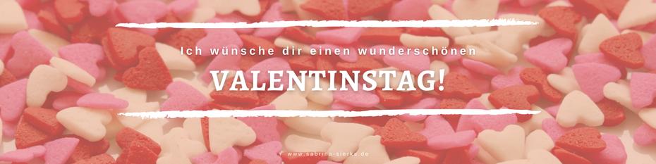 Ich wünsche dir einen wunderschönen Valentinstag! Beschenke dich doch dieses Jahr mal selbst. Tu dir was Gutes! Selbstliebe ist auch Liebe.