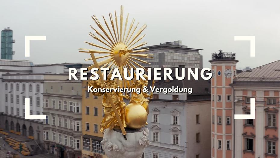 Ilming.info Restaurierung Konservierung Vergoldung Linz Säule