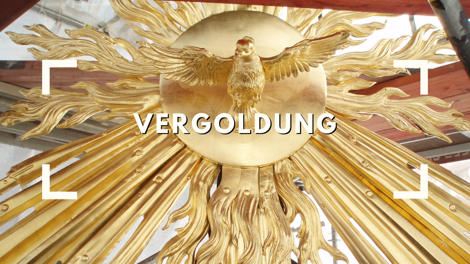 Vergoldung Metall Ölvergoldung Heiligenschein Ilming