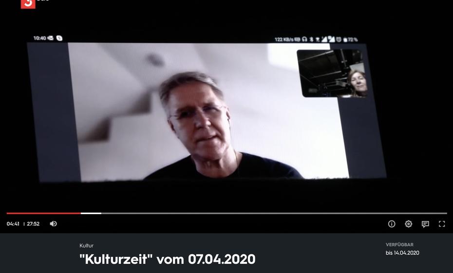"""Quelle: Screenshot 3sat-Sendung """"Kulturzzeit"""", 7. April 2020"""