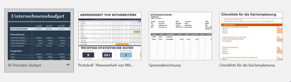 Excel 2016 Online Vorlagen