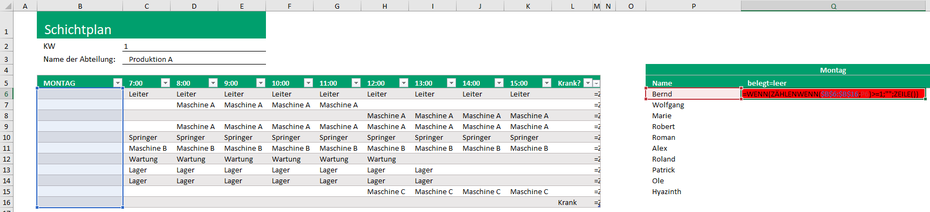 Excel Auswahlliste Element darf nur einmal verwendet werden