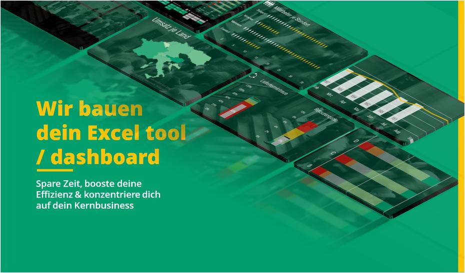 Excel Auftragsarbeit, wir bauen dein Excel tool