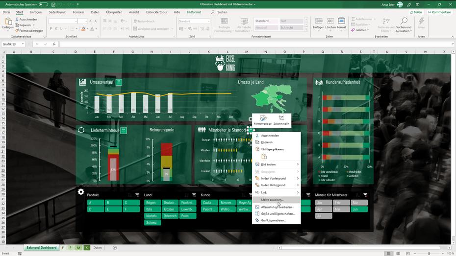 Makro zuweisen für Bild vergrößern Excel