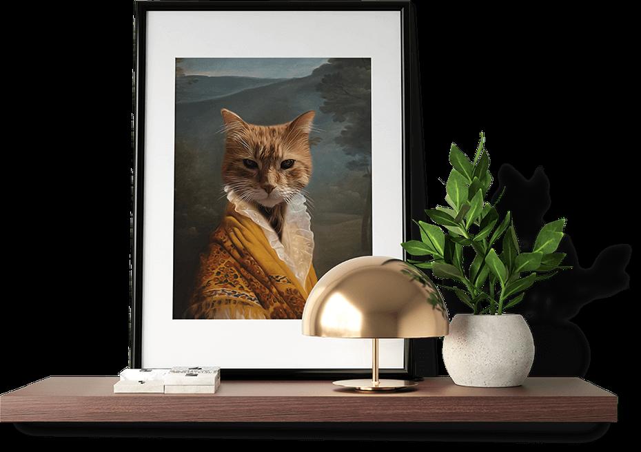 Regal Pet Portraits Art on picture frame