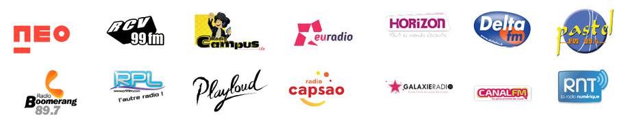 DAB+ Lille local 1, canal 7C, Canal FM, CapSao, Delta FM, Euradio, Galaxie Radio, Horizon, Pastel FM, Playloud, Boomerang, Radio Campus Lille, RCV, RPL Radio