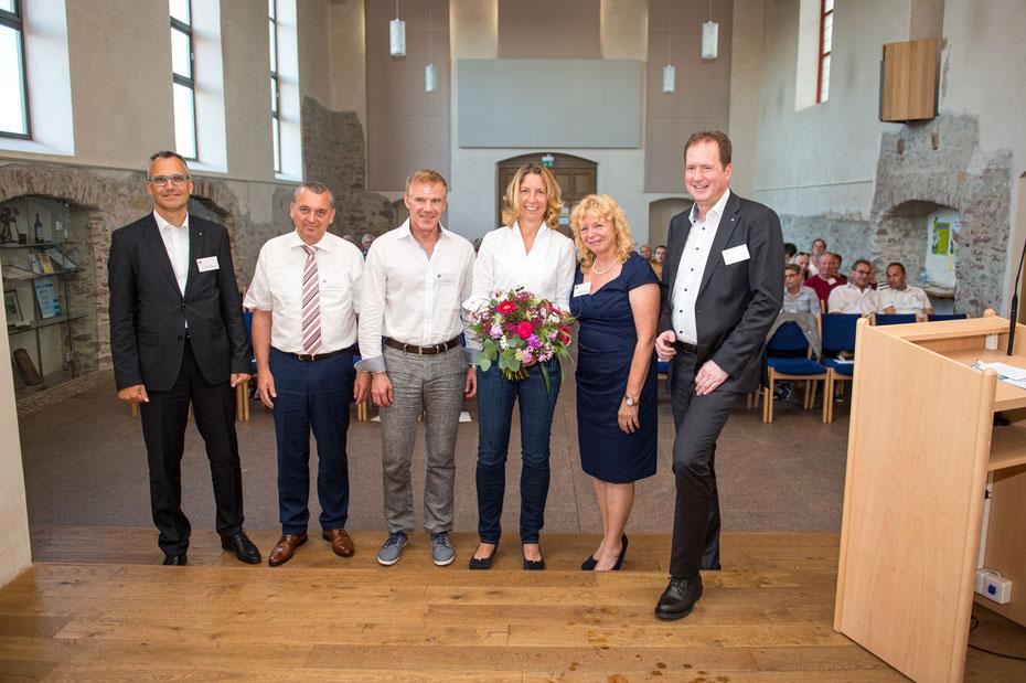 (v.l.n.r.) Steffen Kilian, Thilo Schreiber, Dr. Rolf Bayer, Dr. Dr. Saskia Biskup, Dr. Eveline Fiedler, Dr. Roman Frik