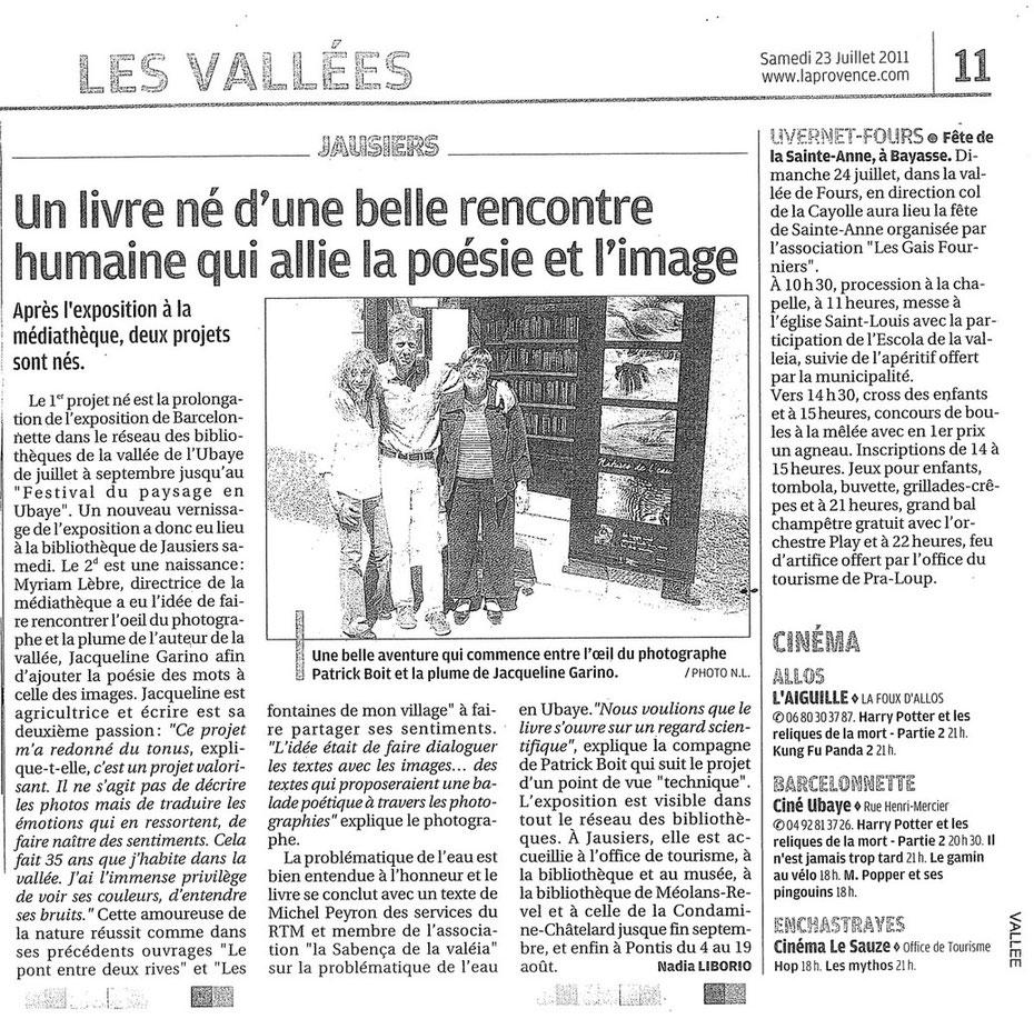 La Provence 23 juillet 2011