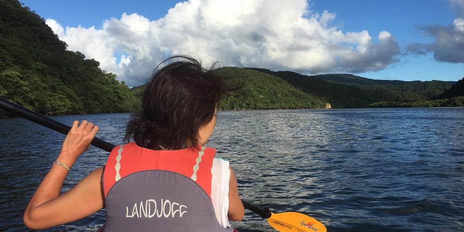 西表島・ガイドにおまかせツアー【滝あそび&マングローブカヌー】おまけサンセット