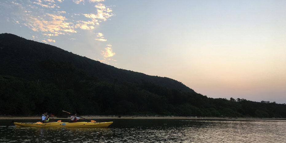 西表島・夕焼けカヌー/カヤックツアー【マングローブ&滝遊び+サンセット】