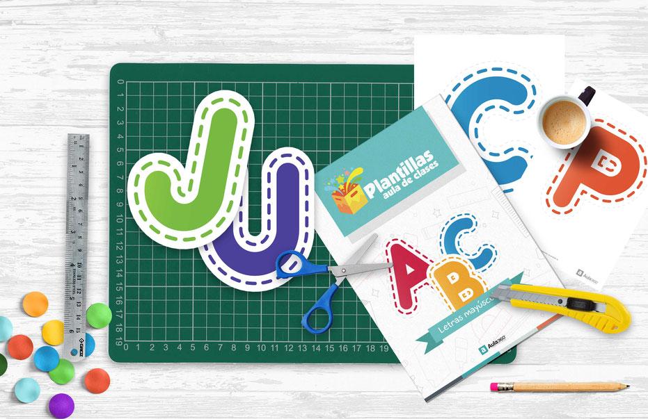 Descarga letras mayusculas para recortar profesores