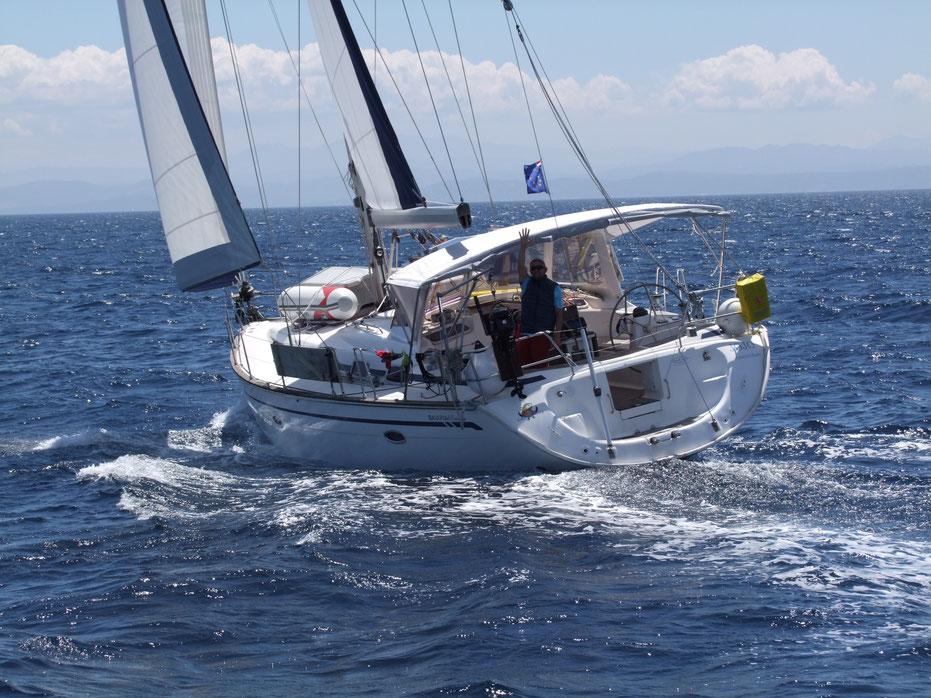 Urlaub auf einer Segelyacht im Mittelmeer