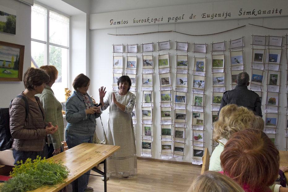 Pamoka apie žoleles Tauragnų muziejuje / Foto: Kristina Stalnionytė