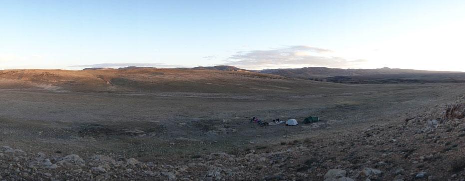 Panorama avec camp